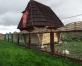 Курятник с деревянной крышей